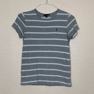 Calvin Klein | Grey & White Striped T Shirt